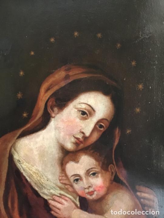 Arte: ANTIGUA PINTURA SIGLO XVIII , OLEO SOBRE METAL - COBRE , - Foto 8 - 222705260