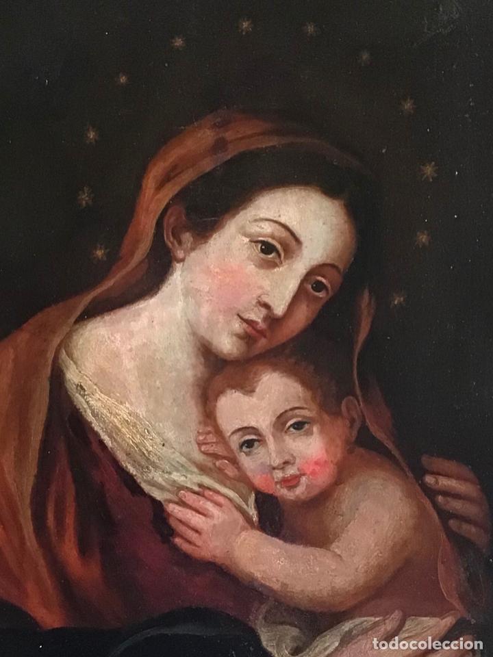 Arte: ANTIGUA PINTURA SIGLO XVIII , OLEO SOBRE METAL - COBRE , - Foto 9 - 222705260