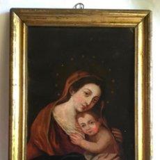 Arte: ANTIGUA PINTURA SIGLO XVIII , OLEO SOBRE METAL - COBRE ,. Lote 222705260