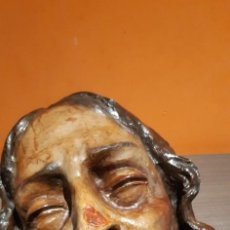 Arte: PRECIOSO BUSTO CRISTO EN TERRACOTA (SALIDA 1€). Lote 222733417