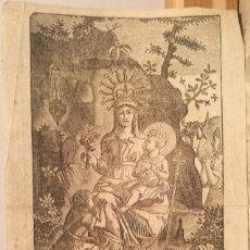 Arte: IMAGEN DE NUESTRA SEÑORA DE NURIA. S.XVIII.. Lote 222818800