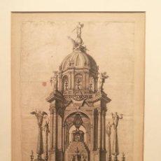 Arte: TUMULO ERIGIDO EN LAS EXEQUIAS DEL CARDENAL BOXADORS. PERE PASCUAL MOLES. S.XVIII.. Lote 222825385