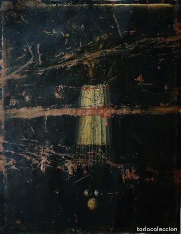 CRISTO DE BURGOS O DE LAS ENAGÜILLAS. ÓLEO/COBRE. MIDE 60 X 47 CM. CÍRCULO DE MATEO CEREZO. (Arte - Arte Religioso - Pintura Religiosa - Oleo)