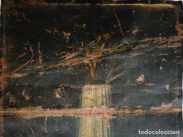 Arte: Cristo de Burgos o de las Enagüillas. Óleo/Cobre. Mide 60 x 47 cm. Círculo de Mateo Cerezo. - Foto 2 - 222829735