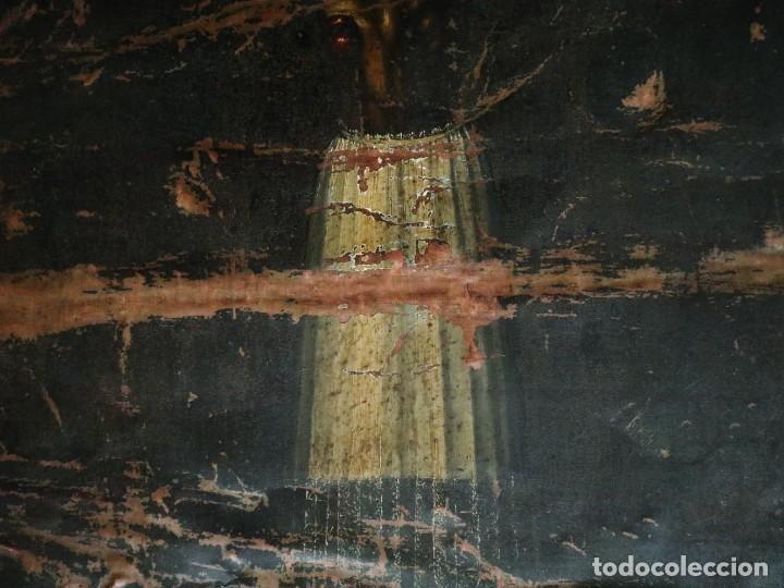 Arte: Cristo de Burgos o de las Enagüillas. Óleo/Cobre. Mide 60 x 47 cm. Círculo de Mateo Cerezo. - Foto 4 - 222829735
