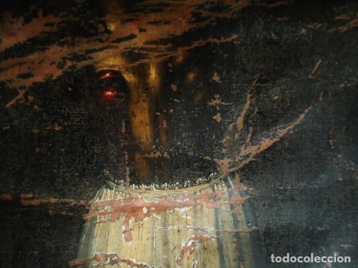 Arte: Cristo de Burgos o de las Enagüillas. Óleo/Cobre. Mide 60 x 47 cm. Círculo de Mateo Cerezo. - Foto 5 - 222829735
