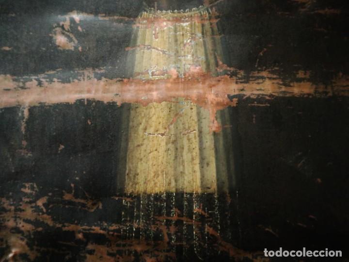 Arte: Cristo de Burgos o de las Enagüillas. Óleo/Cobre. Mide 60 x 47 cm. Círculo de Mateo Cerezo. - Foto 6 - 222829735