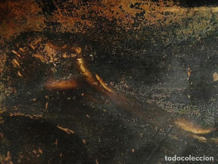 Arte: Cristo de Burgos o de las Enagüillas. Óleo/Cobre. Mide 60 x 47 cm. Círculo de Mateo Cerezo. - Foto 8 - 222829735