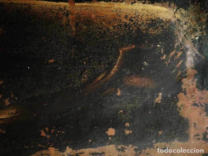 Arte: Cristo de Burgos o de las Enagüillas. Óleo/Cobre. Mide 60 x 47 cm. Círculo de Mateo Cerezo. - Foto 9 - 222829735