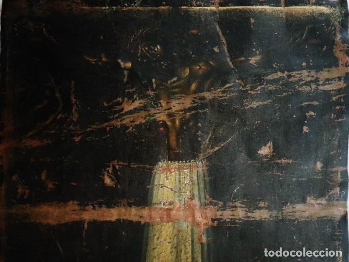 Arte: Cristo de Burgos o de las Enagüillas. Óleo/Cobre. Mide 60 x 47 cm. Círculo de Mateo Cerezo. - Foto 10 - 222829735
