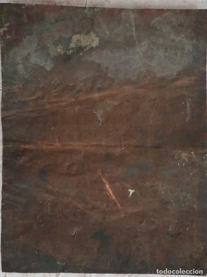Arte: Cristo de Burgos o de las Enagüillas. Óleo/Cobre. Mide 60 x 47 cm. Círculo de Mateo Cerezo. - Foto 12 - 222829735