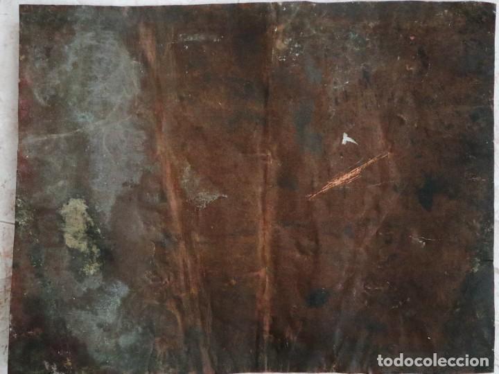 Arte: Cristo de Burgos o de las Enagüillas. Óleo/Cobre. Mide 60 x 47 cm. Círculo de Mateo Cerezo. - Foto 13 - 222829735