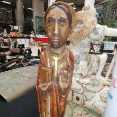 Arte: ANTIGUA IMAGEN DE JESÚS O SANTO CREO QUE DE MADERA POLICROMADA. VER IMÁGENES... Lote 222933283