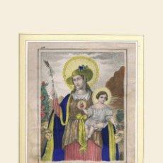 Arte: LITOGRAFIA COLOREADA A MANO. FÁBRICA DE FRANCISCO MITJANA DE MÁLAGA, SIGLO XIX. Lote 223092855