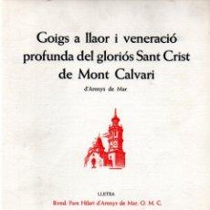 Arte: GOIGS SANT CRIST DE MONT CALVARI - DÍPTICO Y AGUAFUERTE DE BARTOMEU TRÍAS (MONTANER Y SIMÓN). Lote 223116148