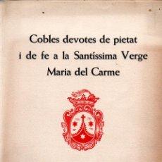 Arte: GOIGS VERGE DEL CARME - DÍPTICO Y AGUAFUERTE DE COLL (MONTANER Y SIMÓN). Lote 223125528