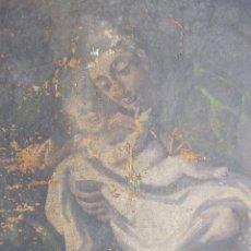 Arte: SAN ANTONIO CON EL ÑINO. OLEO SOBRE TELA. SIGLO XVIII. 64 X 48 CM. Lote 223129643