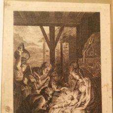 Arte: LA ADORACION POR JUAN ANTONIO SALVADOR CARMONA (1740-1805). MADRID 1776.. Lote 223372280