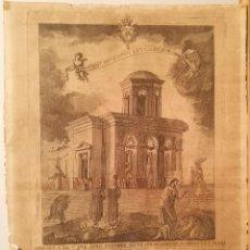 Arte: DEDICADO A LA SALUD DE PIO VII POR BONAVENTURA PLANELLA (1772-1844). 1806.. Lote 223373058