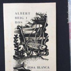 Arte: TRIPTICO BODA ALBERT REIG I ROS Y ROSA BLANCA GELABERT I TARGA ILUSTRACIONES GELABERT 1962. Lote 223808740