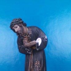 Art: ESCULTURA RELIGIOSA CRISTO 40 CM CON CRUZ DE 30X63 CM. Lote 223971930