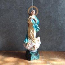 Arte: IMAGEN DE LA VIRGEN MARÍA INMACULADA * NUESTRA SEÑORA * 35,5 CM. Lote 224049223