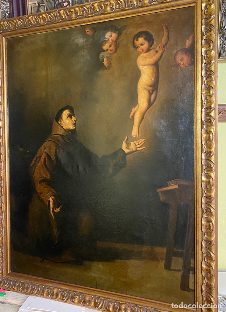 TEMA RELIGIOSO OLEO/LIENZO MEDIDAS 110X85 CON MARCO 125X100 (Arte - Arte Religioso - Pintura Religiosa - Oleo)