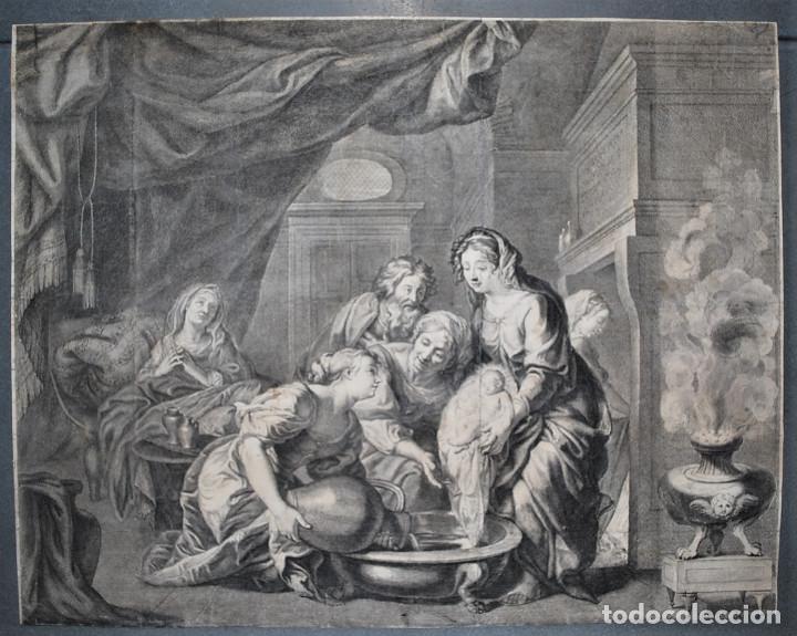 ESCENA BÍBLICA. GRABADO ORIGINAL DE LOUIS DE CHATILLON. SIGLO XVII (Arte - Arte Religioso - Grabados)