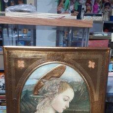 Arte: LAMINA TRATADA EN TABLA DE MADERA TALLADA DULCE VIRGEN MARIA ORANDO DE BERNARDINO LUINI ITALIA S. XX. Lote 224230187