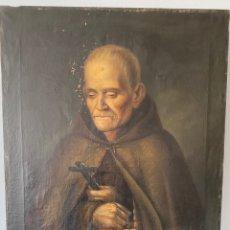 Arte: ÓLEO SOBRE LIENZO, RETRATO FRANCISCANO DESCALZO DEL CONVENTO DE SAN JUAN DE LA RIBERA, VALENCIA.. Lote 224291227