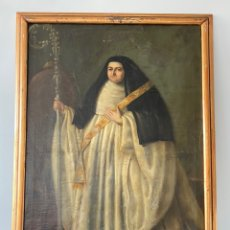 Arte: ÓLEO SOBRE LIENZO MONJA CON BANDA BORDADA EN ORO. FINALES SIGLO XVIII. Lote 224296760