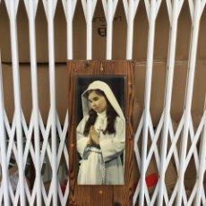 Arte: FOTOGRAFÍA RELIGIOSA NIEPCE BARCELONA . ESMALTADA VER LAS MEDIDAS EN FOTOS. Lote 224327070