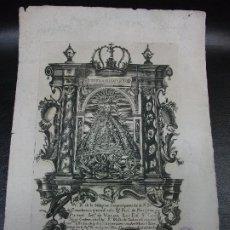 Arte: SIGLO XVIII GRABADO LA VIRGEN NUESTRA SEÑORA DE LA CONSOLACIÓN DE NACHITUA VIZCAYA BILBAO - RELIGION. Lote 224354408