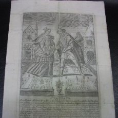Arte: SIGLO XVII-XVIII GRABADO DE SANTA CASILDA DE TOLEDO HIJA DE ALDEMÓ REY MORO DE TOLEDO - RELIGION. Lote 224358010