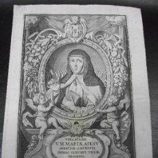 Arte: 1669 GRABADO HISTORIA DIVINA Y VIDA DE LA VIRGEN MARIA DE JESUS DE LA VILLA DE AGREDA SORIA RELIGION. Lote 224365916