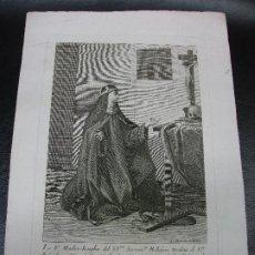 Arte: SIGLO XVIII LA MADRE JOSEFA DE LA VILLA DE AZCOITIA VIZCAYA BILBAO GRABADO POR BARCELON LORCA MURCIA. Lote 224367188