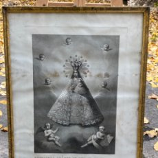 Arte: ANTIGUO MARCO Y GRABADO NUESTRA SEÑORA DE GRACIA PATRONA DE BIAR 53X71CM. Lote 224421348