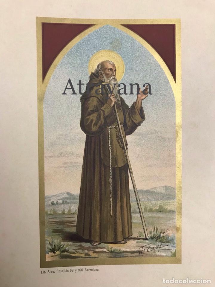 Arte: RELIGIOSA. LITOGRAFÍA. ALEU. CROMOLITOGRAFÍA. SAN FRANCISCO DE PAULA - Foto 2 - 224505737