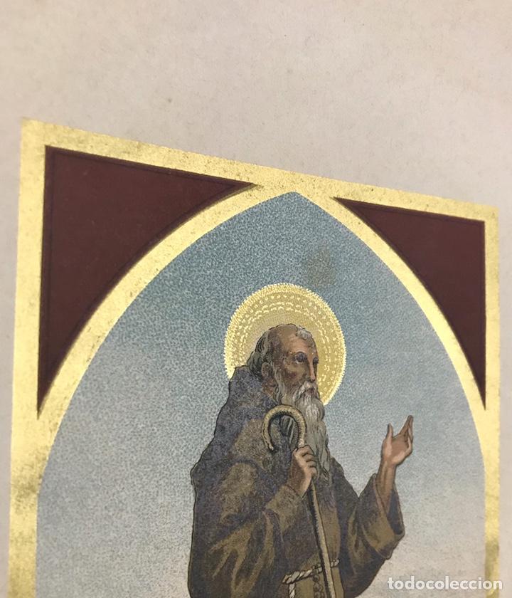 Arte: RELIGIOSA. LITOGRAFÍA. ALEU. CROMOLITOGRAFÍA. SAN FRANCISCO DE PAULA - Foto 3 - 224505737
