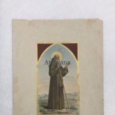 Arte: RELIGIOSA. LITOGRAFÍA. ALEU. CROMOLITOGRAFÍA. SAN FRANCISCO DE PAULA. Lote 224505737