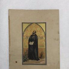 Arte: RELIGIOSA. LITOGRAFÍA. ALEU. CROMOLITOGRAFÍA. SAN IGNACIO DE LOYOLA. Lote 224507536
