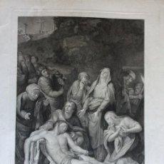 Arte: DESCENDIMIENTO GRABADO AGUAFUERTE Y BURIL SOBRE PAPEL CONTINUO, 75 X 60 MM.. Lote 224513806
