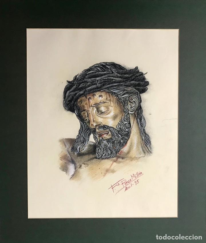 SEMANA SANTA SEVILLA. HERMANDAD. RETRATO DEL STMO. CRISTO DEL CALVARIO (Arte - Arte Religioso - Pintura Religiosa - Otros)