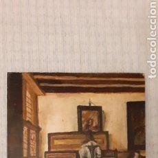 Arte: OLEO SOBRE TABLA, 24,5 X 19, FIRMA ILEGIBLE. Lote 224527462