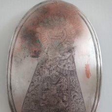 Arte: VIRGEN DE LOS DESAMPARADOS- PLACA GRABADA PARA PUERTA. Lote 224638867