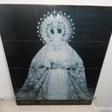 Arte: RETABLO EN AZULEJOS VIRGEN FOTO DIEGO ROMERO SEMANA SANTA JEREZ 1990 48X60. Lote 224823765