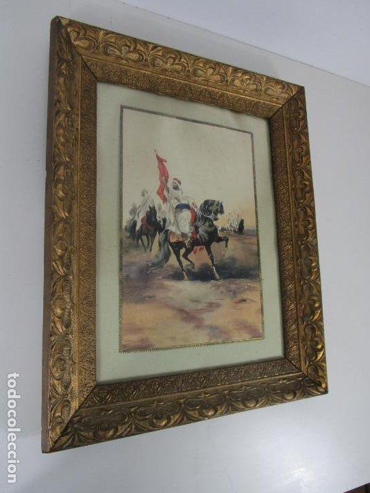 Arte: Josep Tapiró y Baró (Reus 1836 - Tánger 1913) - Acuarela Tánger 1913 - Foto 2 - 224958332