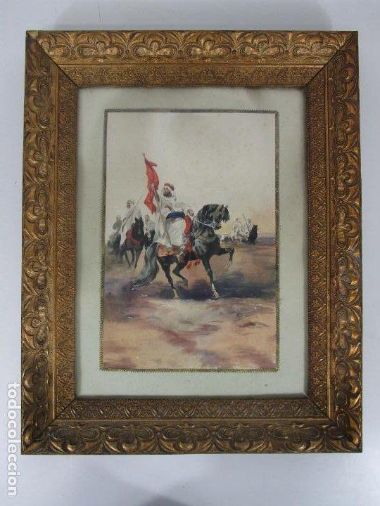 Arte: Josep Tapiró y Baró (Reus 1836 - Tánger 1913) - Acuarela Tánger 1913 - Foto 3 - 224958332