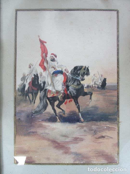 Arte: Josep Tapiró y Baró (Reus 1836 - Tánger 1913) - Acuarela Tánger 1913 - Foto 4 - 224958332