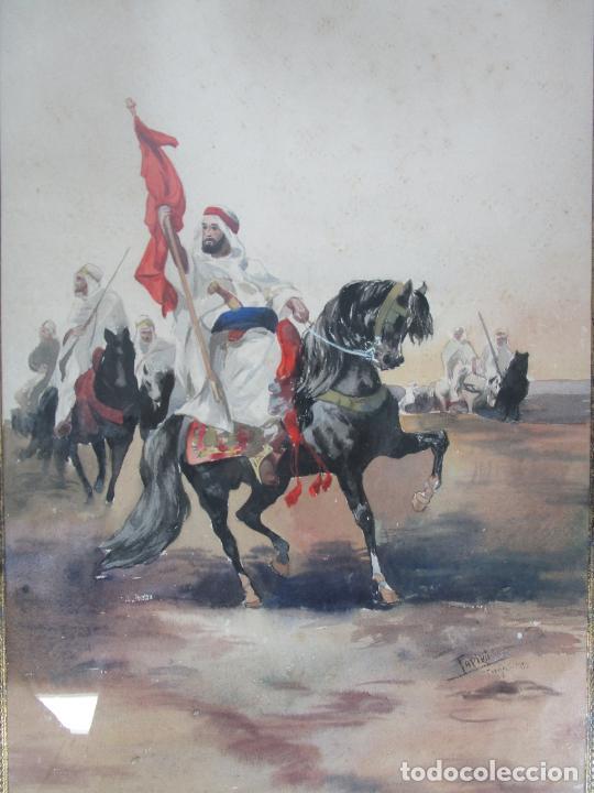 Arte: Josep Tapiró y Baró (Reus 1836 - Tánger 1913) - Acuarela Tánger 1913 - Foto 5 - 224958332